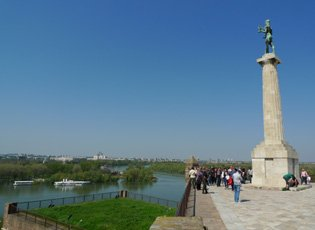 Belgrade fortress, confluence of the Sava & Danube rivers