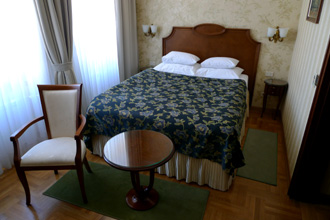 A double room at the Hotel Moskva, Belgrade
