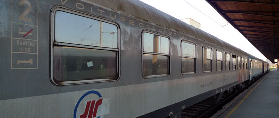 A Serbian sleeping-car on the Belgrade to Budapest train