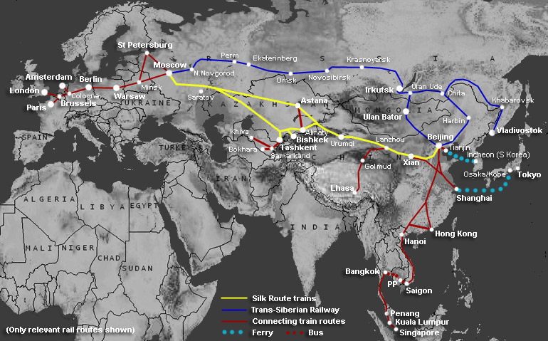 How to travel Central Asia & the Silk Route by train | Train times ...