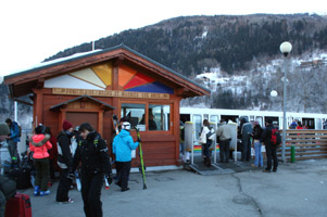 The funicular up to Les arcs from Bourg St Maurice