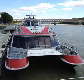 Twin City Liner river boat from Bratislava to Vienna