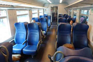 2nd class seats on the regional train from Venice to Trieste