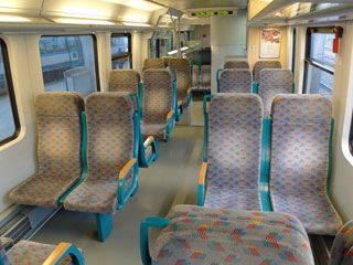 2nd class seats on the train from Villa Opicina & Sezana to Ljubljana