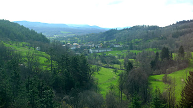 Beautiful Slovenian scenery from the train from Villa Opicina to Ljubljana