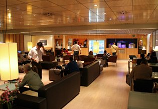 The Sala Club (1st class lounge) at Madrid Atocha station.