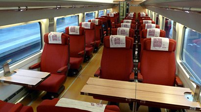 AVE Turista Plus class on an S100 AVE train to Seville