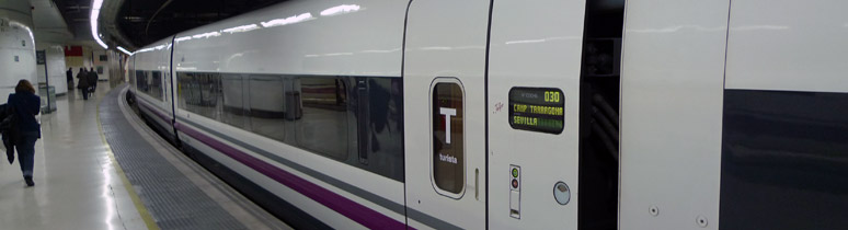 S112 AVE train from Barcelona to Seville & Malaga