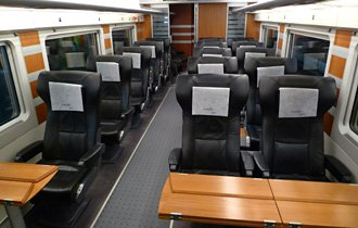 AVE Club class on an S102 AVE train from Madrid to Malaga
