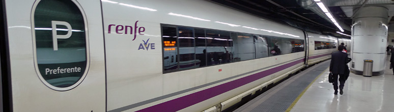 S103 AVE train from Madrid to Barcelona