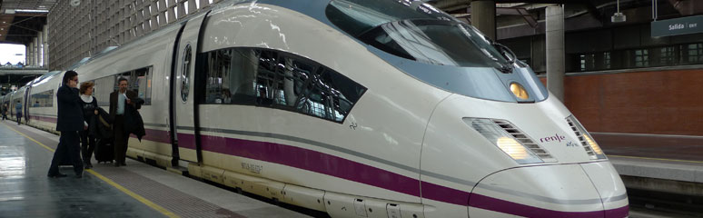 An AVE-S103 high-speed train at Madrid Atocha