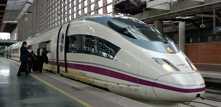 An S103 AVE train at Madrid Atocha station
