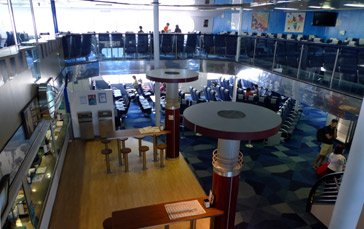 Inside the Balearia fast ferry 'Jaume I' to Alcudia