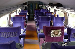 First class on board a TGV Duplex