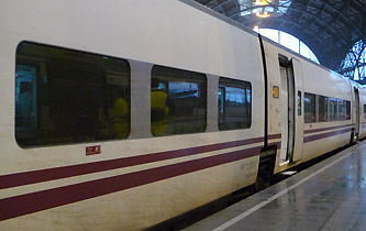 A EuroMed train at Barcelona Franca station
