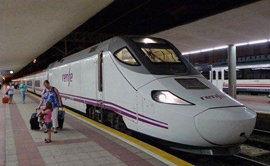 Alvia train from Madrid arrived at Santander station