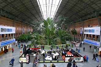 Madrid Atocha station - the tropical garden in the old trainshed