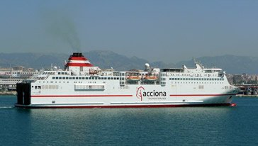 Acciona Ferry 'Fortuny' sailing from Palma de Mallorca to Barcelona