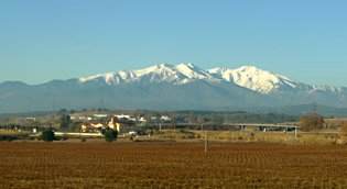 Mt Canigou is visible from the Paris-Barcelona train for many miles