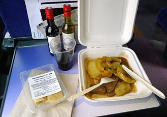 Lunch from the cafe-bar on the train to Barcelona