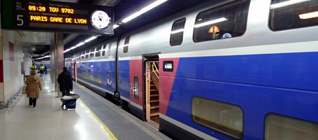 An TGV Duplex at Paris Est.