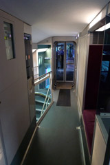 Upper deck second class on a TGV Duplex.