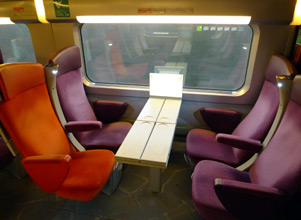 2nd class seats on the TGV to the Spanish border