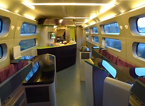 The TGV's cafe-bar car