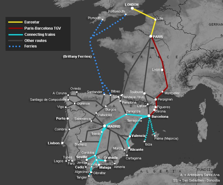 How to travel by train from London to Spain: Madrid, Barcelona ... San Go Transit Map on massachusetts bay transit authority map, central of georgia map, massachusetts bay transportation authority map, go street map, new jersey transit map, toronto ttc map, subway transit map, go train mississauga map, norfolk southern map, sound transit map, metro transit map, toronto streetcar system map, peterborough transit map, calgary transit map, vaughan transit map, toronto transit map, nj transit map, metropolitan atlanta rapid transit authority map, dallas area rapid transit map, bay area rapid transit map,