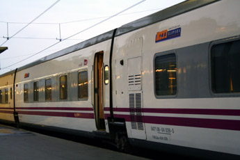 The overnight sleeper train from Paris to Madrid or Barcelona