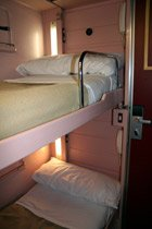 Paris to Madrid & Barcelona by trainhotel: Gran Clase 2-bed sleeper (night mode)