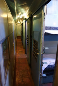 Corridor of Sri Lanka Railways sleeping-car