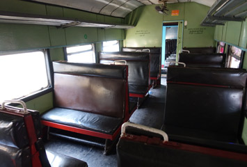 3rd class seats on Sri Lankan train