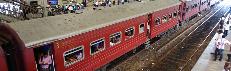 Classic train at Colombo Fort