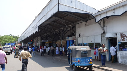 Arriving at Colombo Fort station