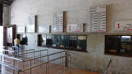 Ticket counters at Colombo Fort