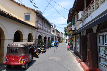 Old town street in Galle