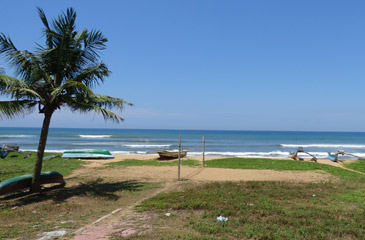 Beach seen from a Colombo-Galle train