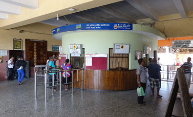 Inside Galle station