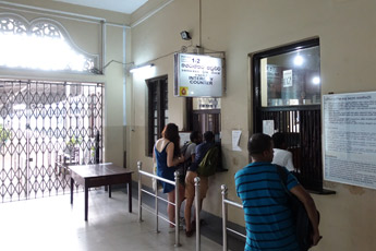 Reservations counter at Kandy station