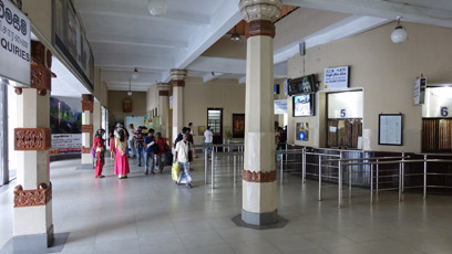 Inside Kandy station