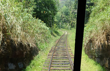View back down the track