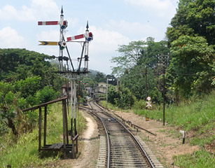 Signals at Peradeniya Junction