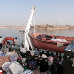 Deck of the Nile ferry to Sudan