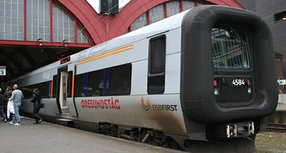 An Oresund link train from Copenhagen to Gothenburg at Malmo