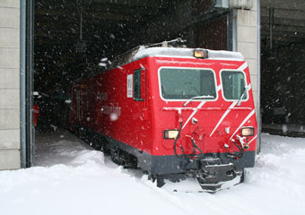 The Glacier Express about to leave Zermatt...