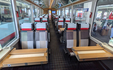 Glacier Express 2nd class seats