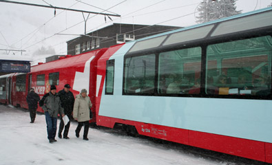 The Glacier Express at Andermatt...
