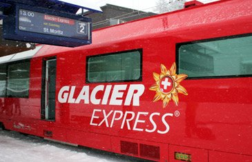 The Glacier Express food service car