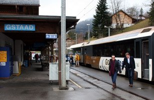 The Golden Panoramic Express at Gstaad